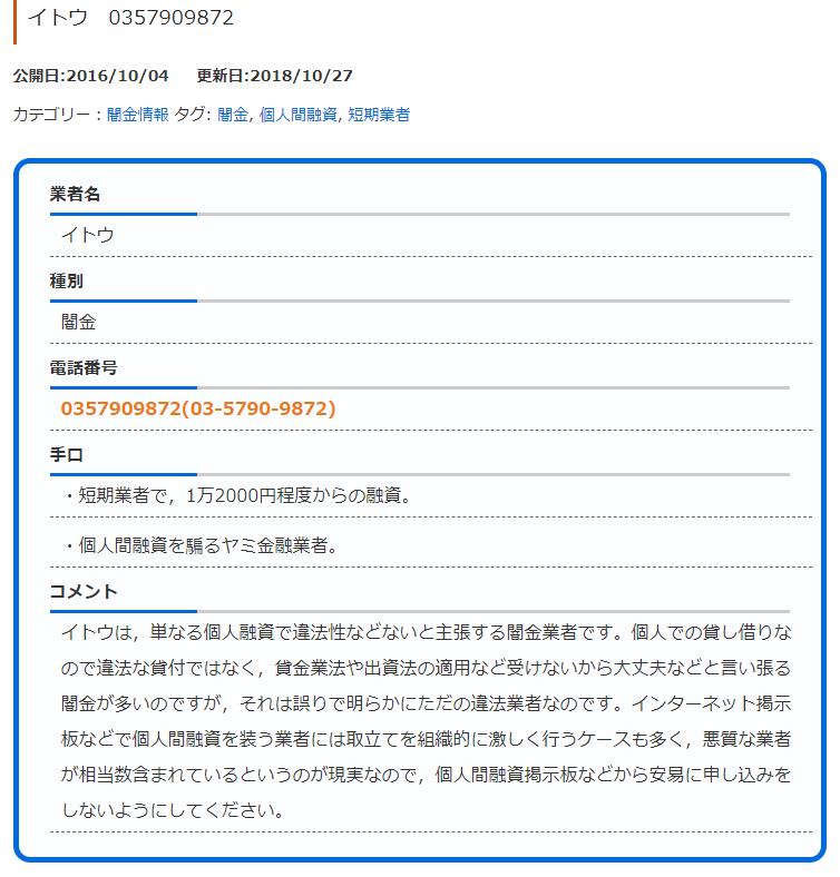 個人融資伊藤闇金